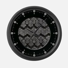Tire Tread Large Wall Clock