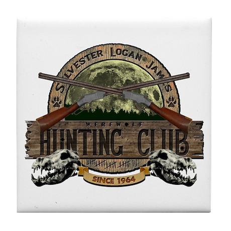 Werewolf Hunter Tile Coaster