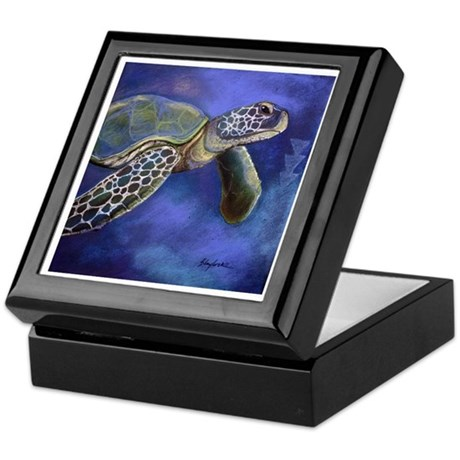 Turtle Blues Keepsake Box
