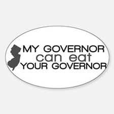 Chris Christie Sticker (Oval)
