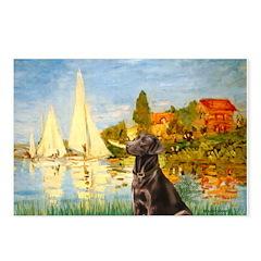 Regatta / Choc. Labrador Postcards (Package of 8)