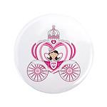 "Cute Princess in Carriage 3.5"" Button (100 Pk"