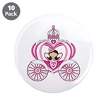 """Fairytale Princess in Carriage 3.5"""" Button (1"""