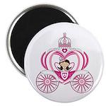 "Cute Princess in Carriage 2.25"" Magnet (100 P"