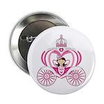 "Cute Princess in Carriage 2.25"" Button (100 P"