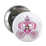 "Cute Princess in Carriage 2.25"" Button (10 Pk"