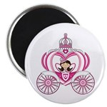 Cute Fairytale Princess in Carriage Magnet