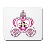 Cute Fairytale in Carriage Mousepad