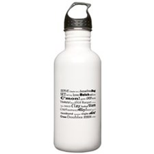 Tennis Words Water Bottle
