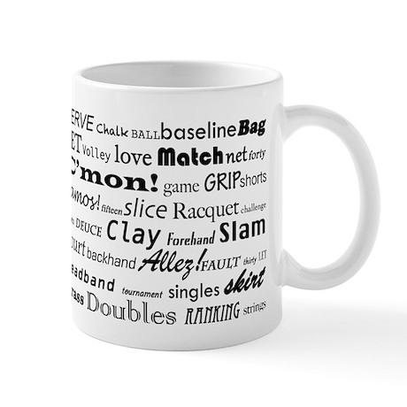 Tennis Words Mug