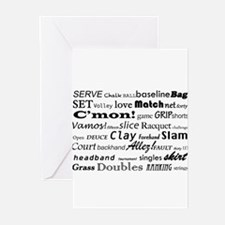 Tennis Words Greeting Cards (Pk of 20)