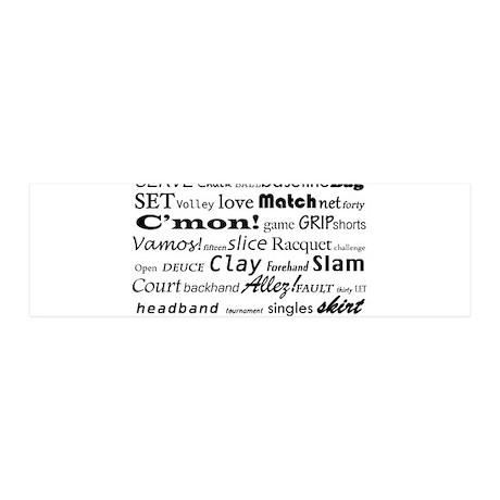 Tennis Words 42x14 Wall Peel