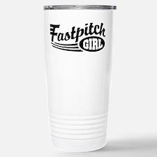 Fastpitch girl Stainless Steel Travel Mug
