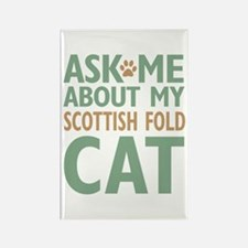 Scottish Fold Cat Rectangle Magnet