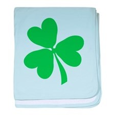 Lucky Irish Shamrock baby blanket