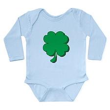 Lucky Four Leaf Clover Long Sleeve Infant Bodysuit