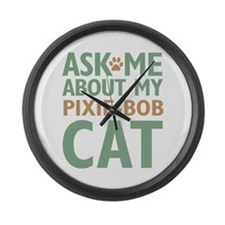 Pixie-Bob Cat Large Wall Clock