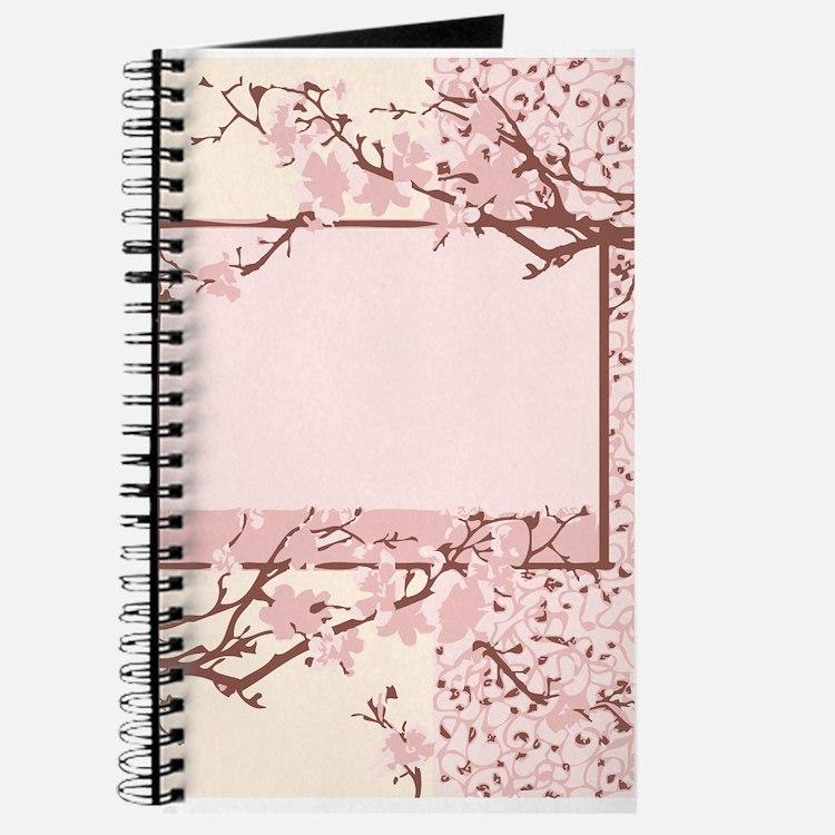 Pink Cherry Blossom Journal