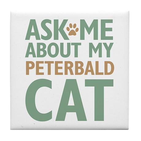 Peterbald Cat Tile Coaster