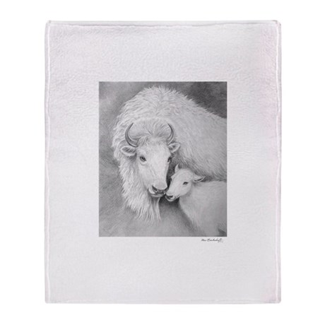 White Buffalo & Calf ~ Throw Blanket
