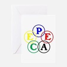 RINGS WORLD PEACE Greeting Card
