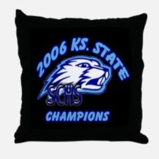 State Champs!!  Black Throw Pillow