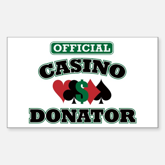 Official Casino Donator Sticker (Rectangle)