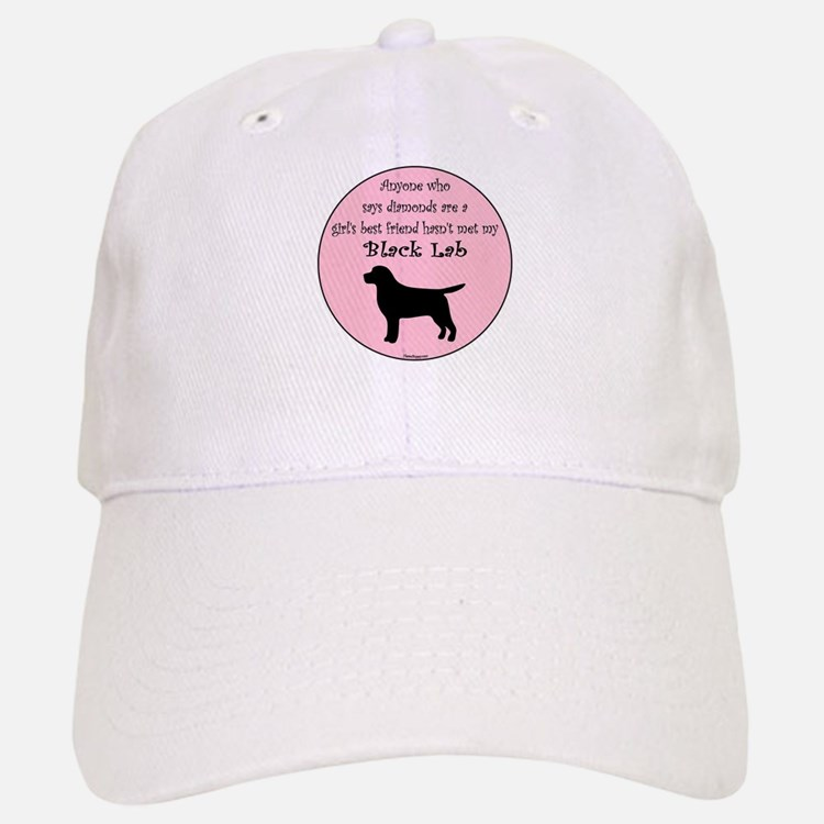 Girls Best Friend - Black Lab Baseball Baseball Cap