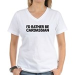 I'd Rather Be Cardassian Women's V-Neck T-Shirt