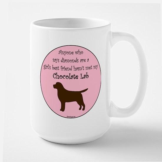 Girls Best Friend - Chocolate Large Mug