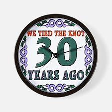 30th Wedding Anniversary Wall Clock
