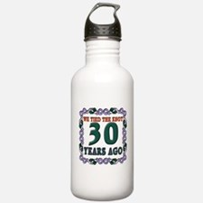 30th Wedding Anniversary Water Bottle