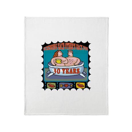 30th Wedding Anniversary Throw Blanket