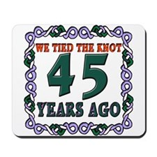 45th Wedding Anniversary Mousepad