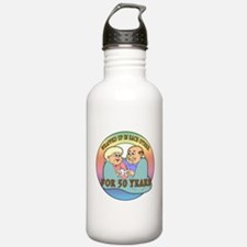 50th Wedding Anniversary Water Bottle