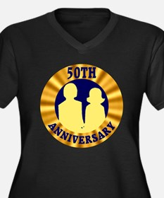 50th Wedding Anniversary Women's Plus Size V-Neck