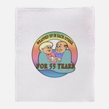 55th Wedding Anniversary Throw Blanket