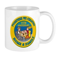 55th Wedding Anniversary Small Mugs