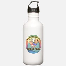 60th Wedding Anniversary Water Bottle