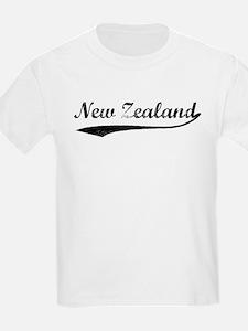 Vintage New Zealand Kids T-Shirt