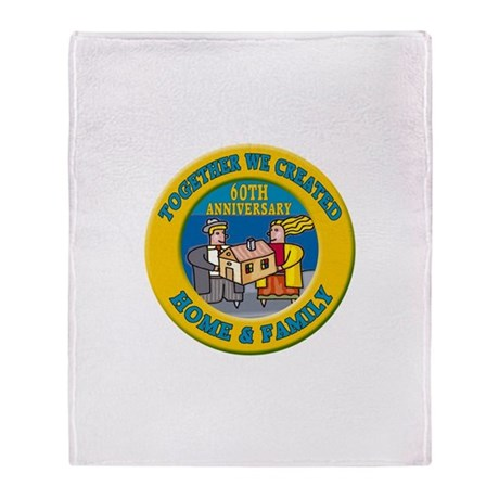 60th Wedding Anniversary Throw Blanket