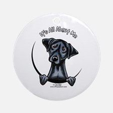 Black Lab IAAM Ornament (Round)