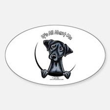 Black Lab IAAM Sticker (Oval)