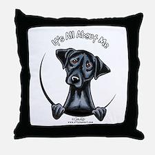 Black Lab IAAM Throw Pillow