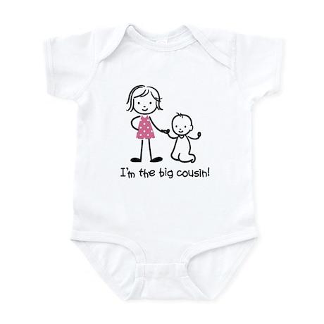 Big Cousin - Stick Characters Infant Bodysuit
