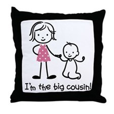 Big Cousin - Stick Characters Throw Pillow