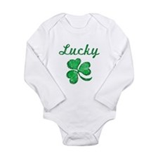 Lucky 3 Long Sleeve Infant Bodysuit