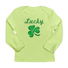 Lucky 3 Long Sleeve Infant T-Shirt