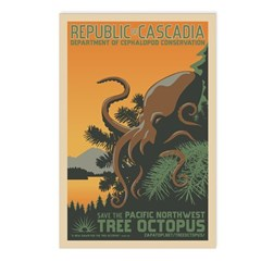"""""""A New Dawn"""" Tree Octopus Postcards (Package of 8)"""