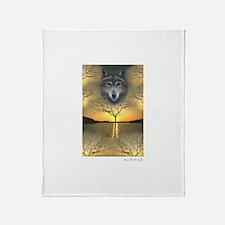 Wolf ~ Shaman's Dream ~ Throw Blanket